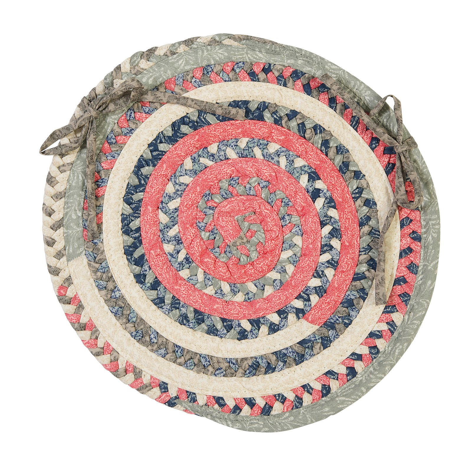 Colonial Mills Print Party Chair Pad Round 15 x 15 in. by Colonial Mills