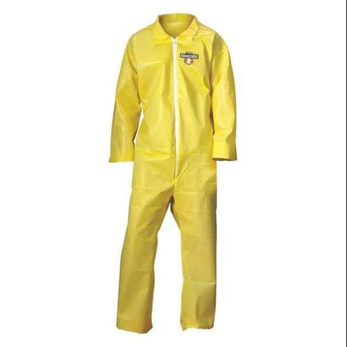 CONDOR 30LV06 Coverall, Yellow, 2XL, PK12