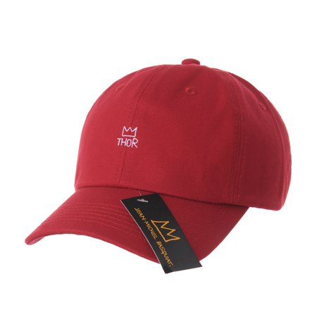 ff622cccc69 WITHMOONS Baseball Cap Jean-Michel Basquiat Crown Embroidery CR1617 (Red) -  Walmart.com