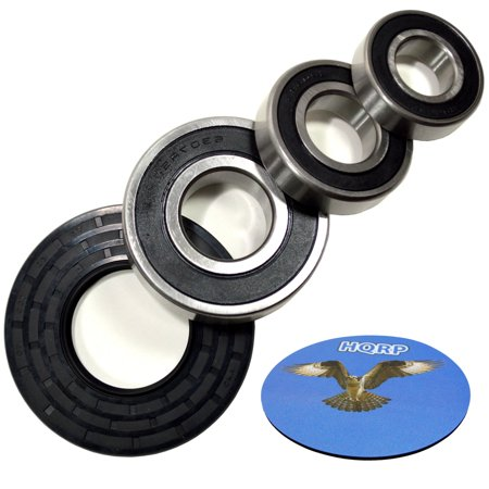 HQRP Bearing and Seal Kit for Whirlpool GHW9100LW2 GHW9150PW0 GHW9150PW1 GHW9100LQ2 GHW9100LW1 GHW9150PW2 Front Load Washer Tub + HQRP