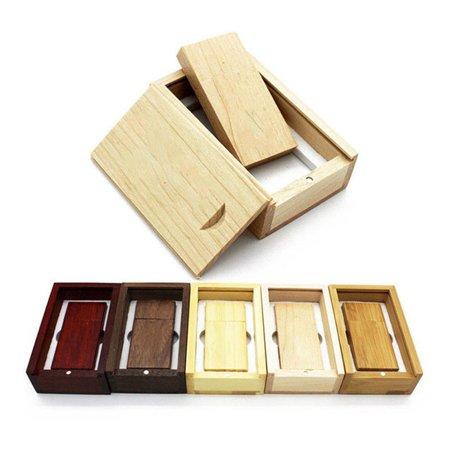 USB Flash Drive Maple Wood Photo Album Box Storage Device For Laptops Notebook - image 7 de 11