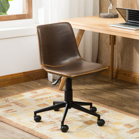 Surprising Roundhill Cesena Faux Leather 360 Swivel Air Lift Office Chair Antique Brown Pabps2019 Chair Design Images Pabps2019Com