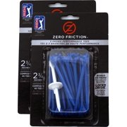 """NEW Zero Friction Blue Tees 2¾"""" Plastic 2 Packs of 40 / 80 Total 3 Prong / 2.75"""""""
