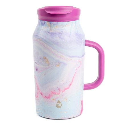 Tal 40 Ounce Pink Swirl Stainless Steel Basin Water Bottle