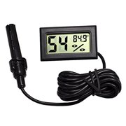 Fahrenheit Digital Hygrometer and Thermometer for Reptile Terrarium and Incubator, 3.5 feet Cable with a Probe, 1.5V two Cells