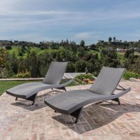 Salem Outdoor Wicker Chaise Lounge Chair - Set of 2