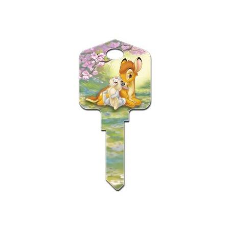 Howard Keys Disney House Key Blank KW1/KW10 Single sided Brass For Kwikset and Titan Locks 1 p