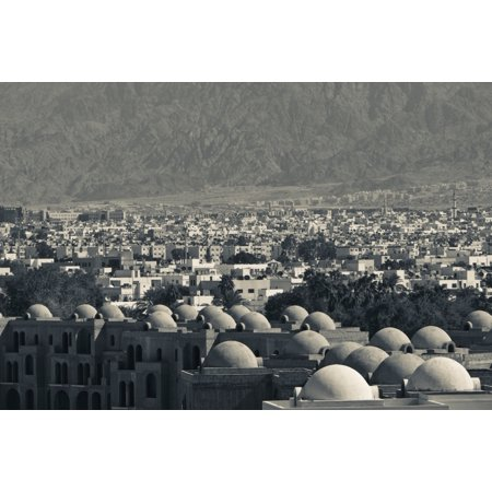 High angle view of town Aqaba Jordan Poster Print by Panoramic Images