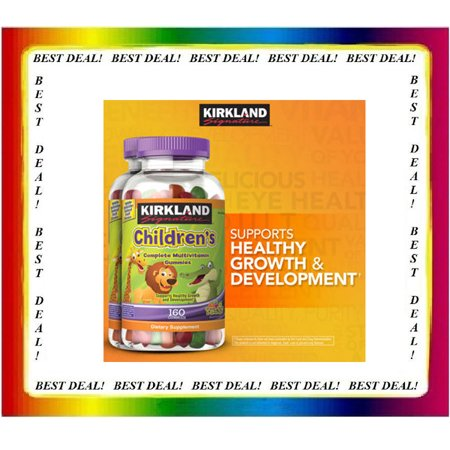 Kirkland Signature Children's Complete Multivitamin, 320 Gummies (PACK OF 2) (Kirkland Active Vitamin Pack)