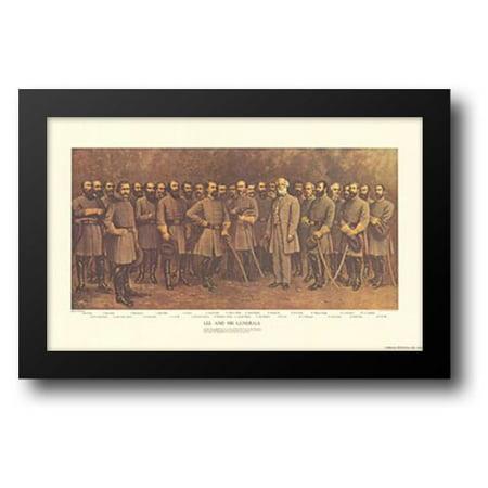 Robert E. Lee and his Generals 28x19 Framed Art Print by Mathews, Fred