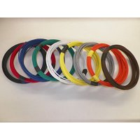 14 GXL HIGH TEMP AUTOMOTIVE POWER WIRE 9 SOLID COLORS 25 FEET EACH 225 FT TOTAL