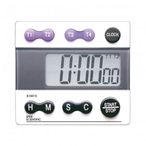 Sper Scientific 810015 Digital Count Down & Count Up Timer with Clock - 5 Channel
