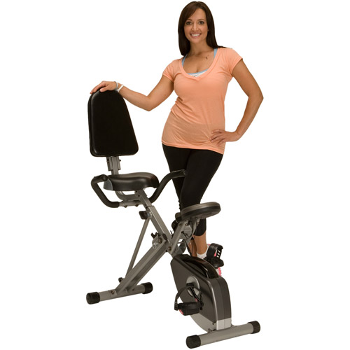 Exerpeutic Folding Recumbent Exercise Bike with Pulse