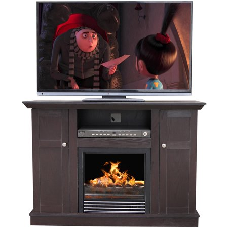 Decor flame electric fireplace for tvs up to 50 dark for Decor flame electric fireplace