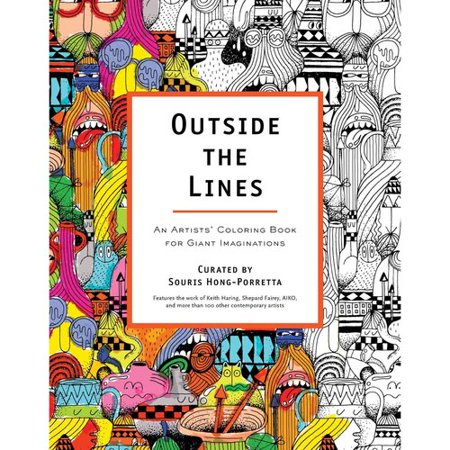 outside the lines adult coloring book an artists coloring book for giant imaginations - Outside The Lines Coloring Book