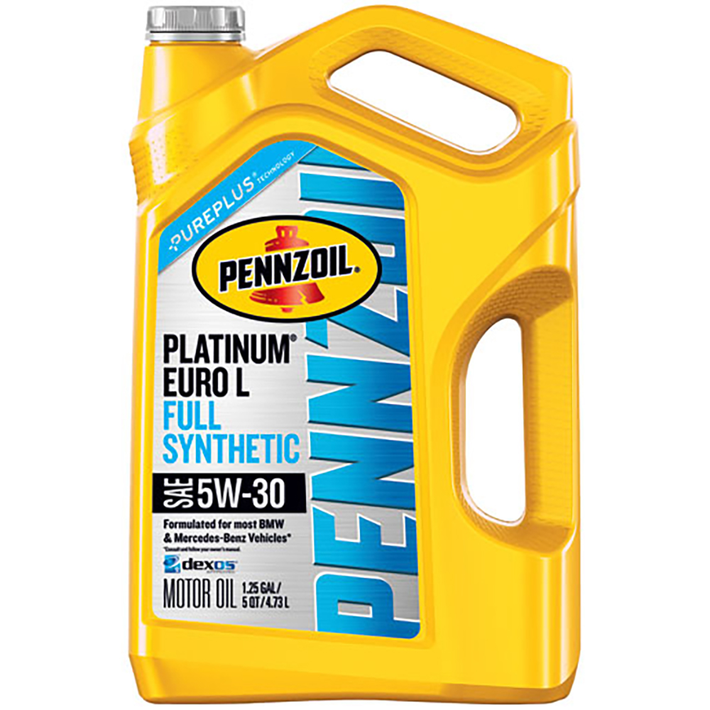 Pennzoil Platinum Euro L 5W-30 Full Synthetic Motor Oil, 5 qt