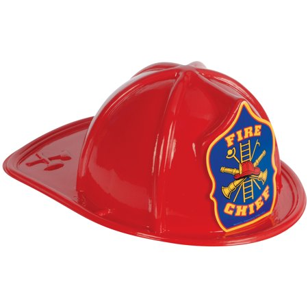 Loftus Fire Chief Fireman Firefighter Costume Hat, Red, One-Size - Fireman Hat