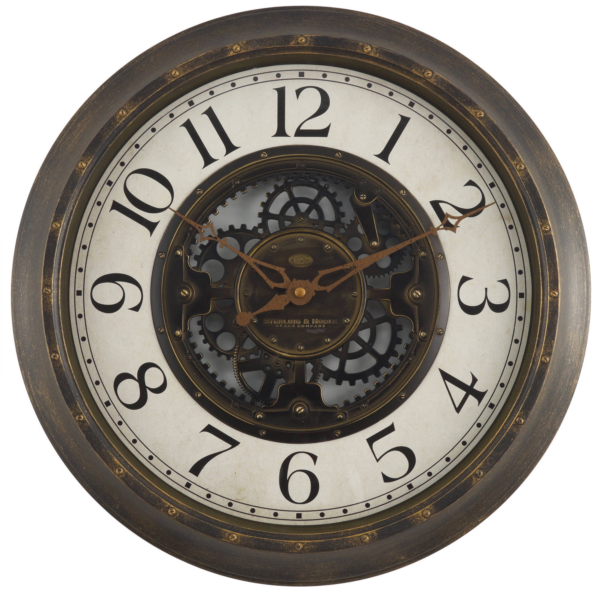 Mainstays 155 Gear Wall Clock Walmartcom