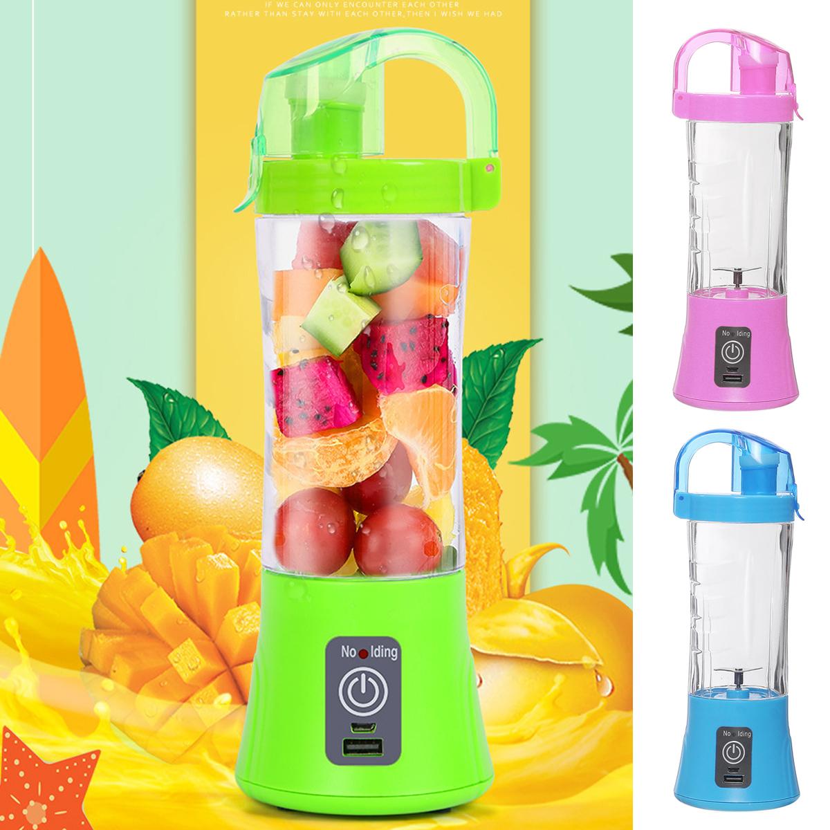 USB Rechargeable Battery Portable Juicer Maker Juice Cup Juice Blender 400ml HOT