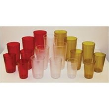 Winco PTP-24A, 24-Ounce Plastic Pebbled Tumblers, 12-Piece Pack (Amber)