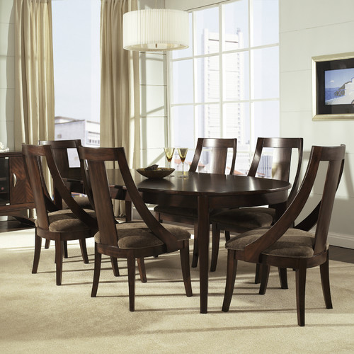 Somerton Cirque Oval Dining Table in Soft Merlot