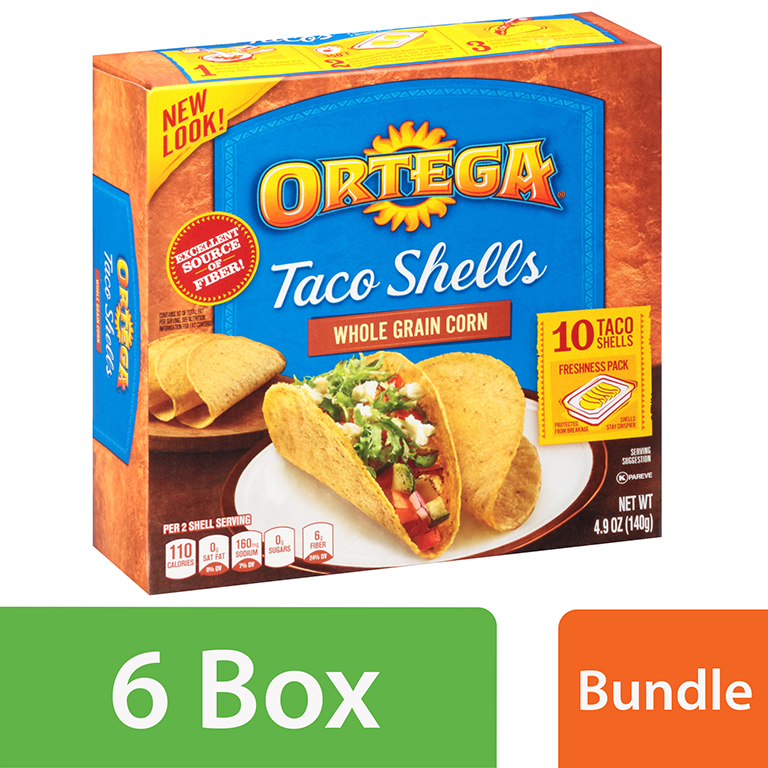 Ortega Whole Grain Corn Taco Shells 4.9 oz Box