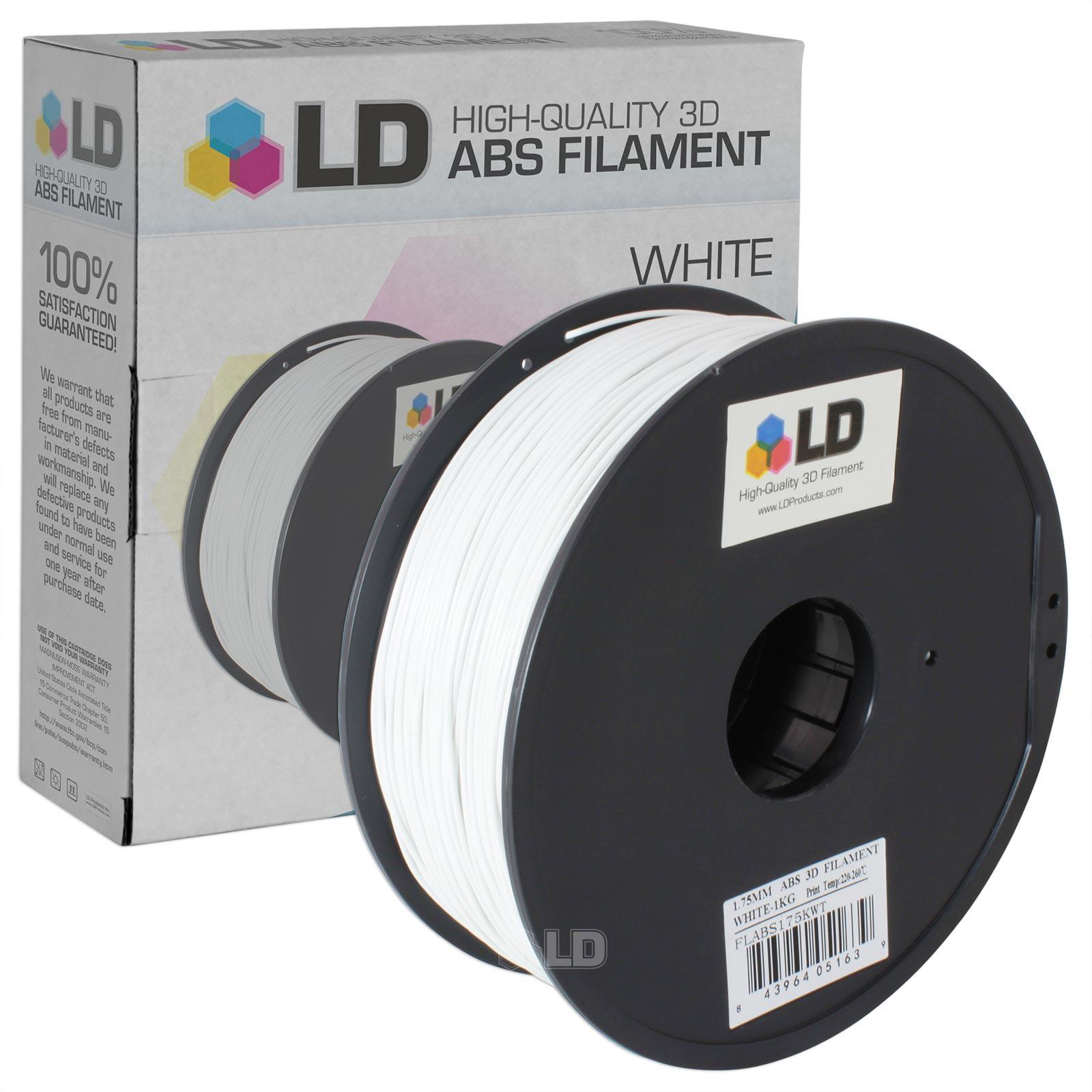 LD White 1.75mm ABS 3D Printer Filament