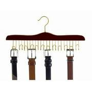 Wooden Specialty Belt Hanger (Walnut & Brass)
