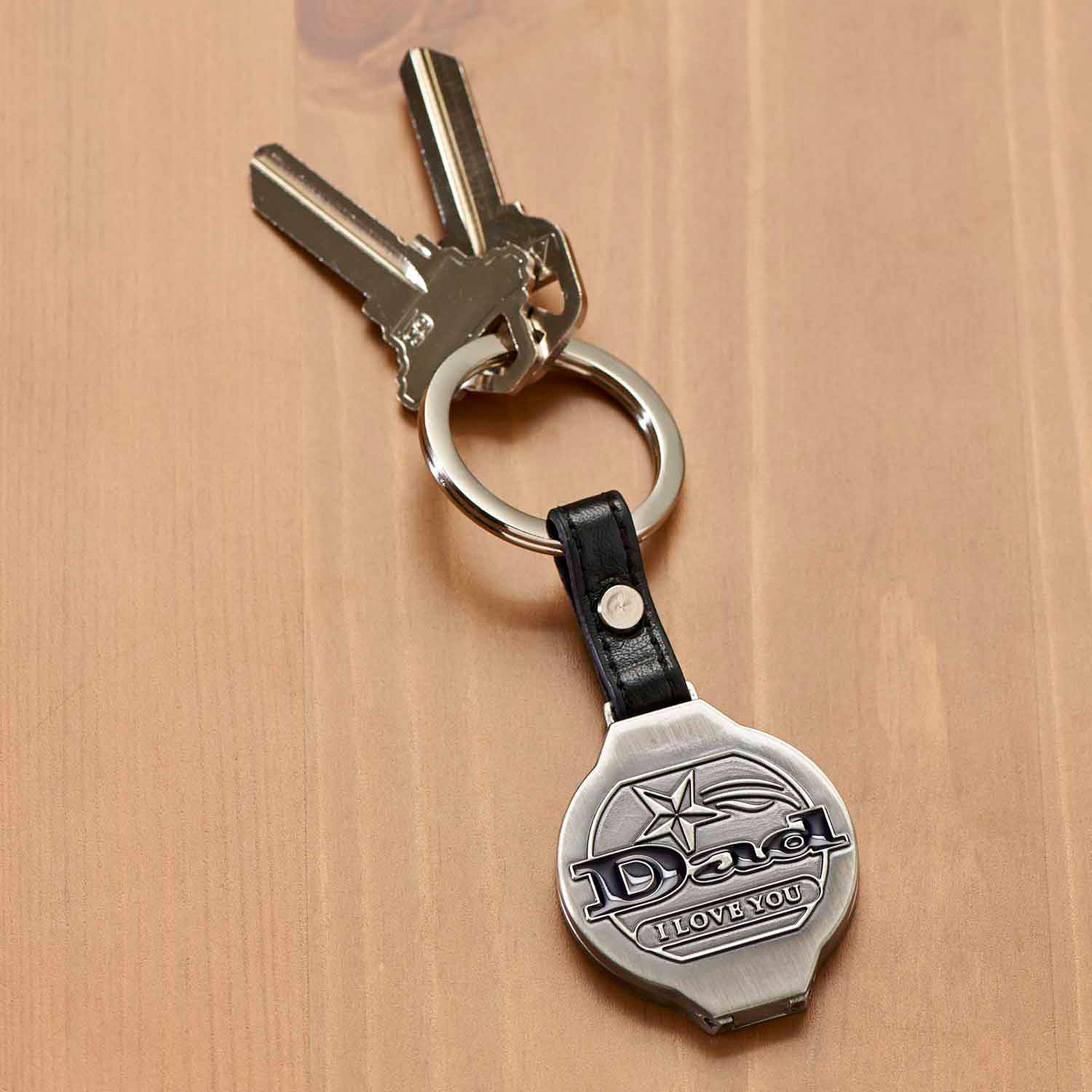 Personalized I Love You Dad Key Chain
