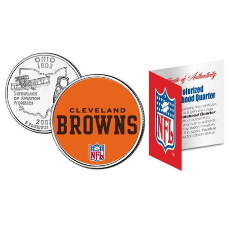 CLEVELAND BROWNS NFL Ohio U.S. Statehood Quarter U.S. Coin  * Licensed - Halloween Stores In Cleveland Ohio