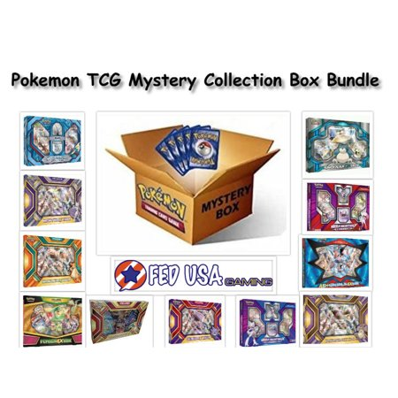 Pokemon Trading Card Game MYSTERY COLLECTION Box Bundle, 2 Random EX/GX Boxes 8 Packs + BONUS by FED USA Gaming (Halloween Game Mystery Box)