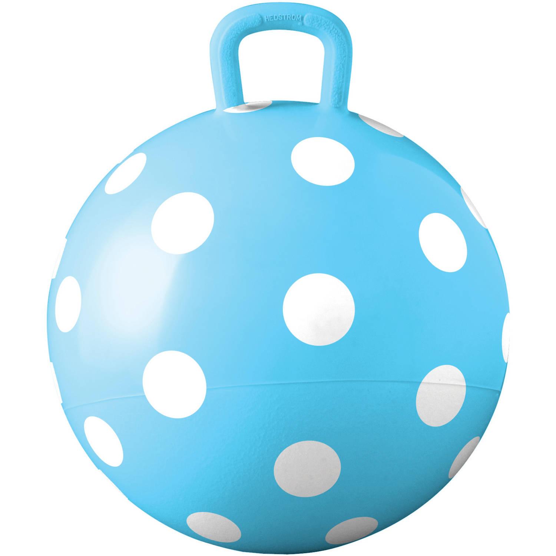 """Blue Polka Dot Hopper, 15"""""""
