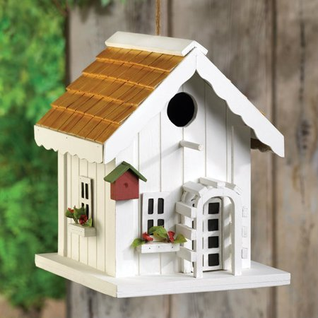 Bird Wash House - Gallery of Light Inc Cottage Bird House with Trellis Front Door