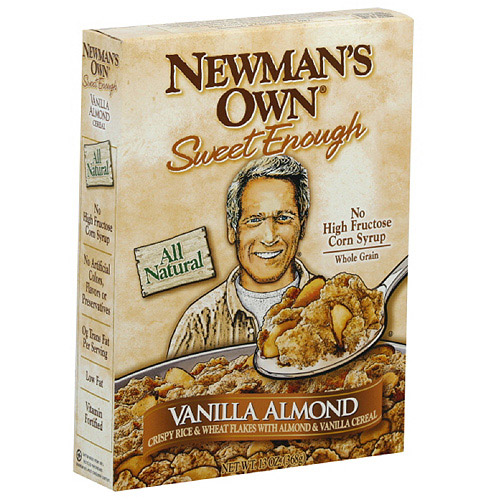 Newman's Own All Natural Whole Grain Vanilla Almond Cereal, 13 oz  (Pack of 10)