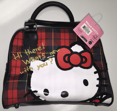 Hand Bag - Hello Kitty - Hi Here Black & Red New 06139