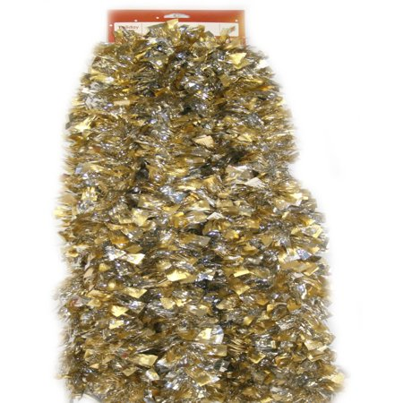 Holiday Time Tinsel Garland, Gold Lame with