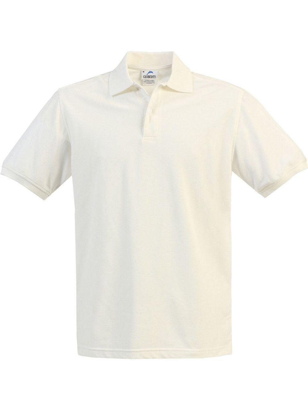 Boys Girls Ivory Short Sleeve School Uniform Polo Shirt 8-16