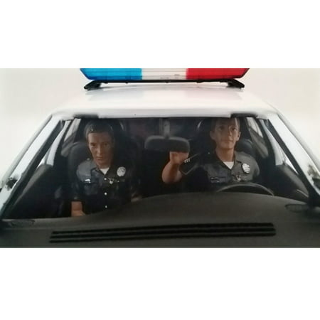 Seated Police Officers 2 Piece Figure Set for 1:18 Models by American Diorama