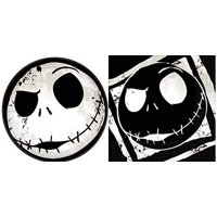 Nightmare Before Christmas Halloween Party Paper Dessert Plates and Paper Napkins, Serves 16, Bundle of 3 Items