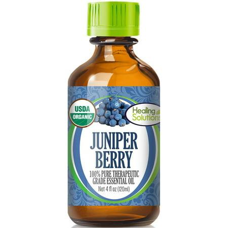 Organic Juniper Berry Essential Oil (100% Pure - USDA Certified Organic) Best Therapeutic Grade Essential Oil -