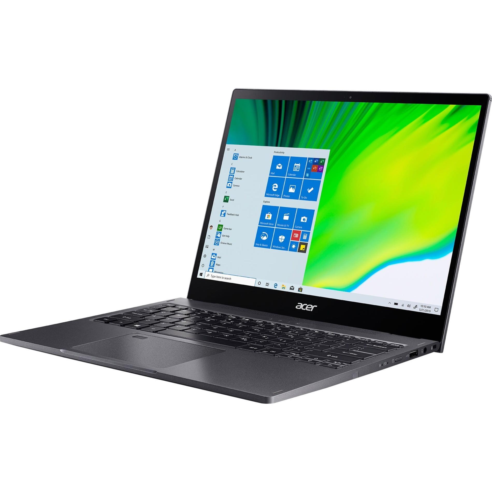 "Acer Spin 5 13.5"" Touchscreen 2-in-1 Laptop, Intel Core i7 i7-1065G7, 16GB RAM, 512GB SSD, Windows 10 Pro, Steel Gray, SP513-54N-70PU"