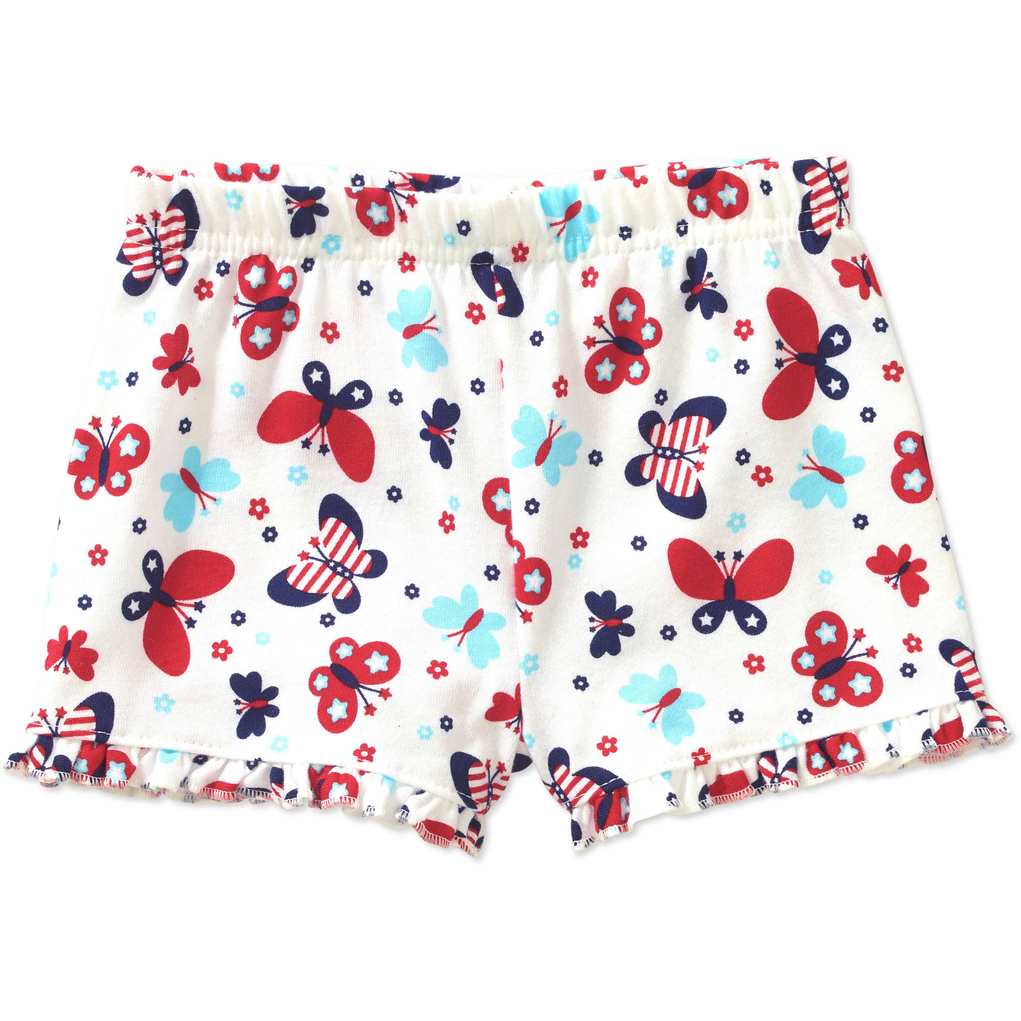 Garanimals Newborn Baby Girls' Printed Ruffle Shorts