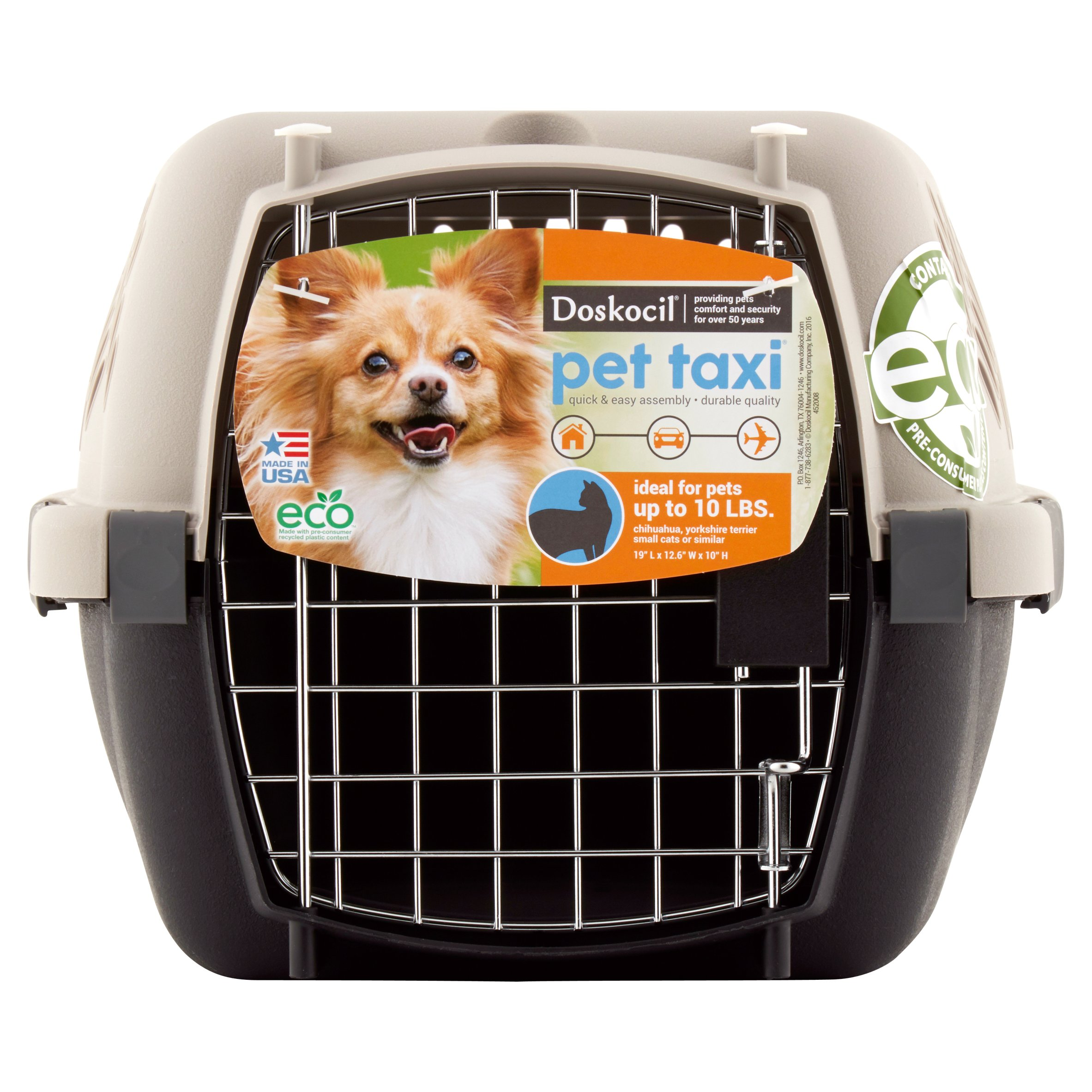 "Doskocil Pet Taxi 19"" Pet Carrier, Extra Small, Beige"