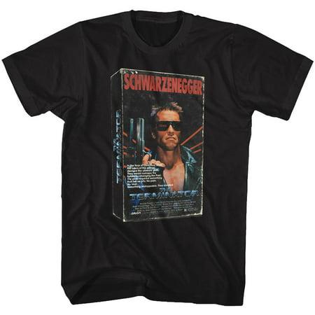 Terminator 1980s SciFi Action Movie 3D VHS Schwarzenegger Adult T-Shirt Tee (Schwarzenegger Xxl)