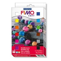 Fimo Soft Clay 12 Color Assortment 25 g blocks assorted colors Box of 12