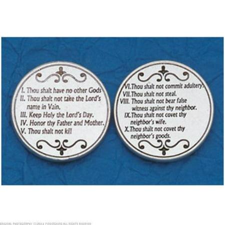 25 The Ten Commandments Prayer (Prayer Coin)