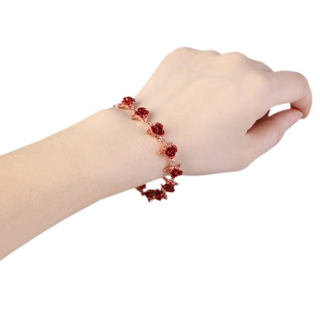 1PCS Beautiful Rose Bracelet Adjustable Size Fashion Jewelry For Mother's Day (Bracelets For Mother's Day)