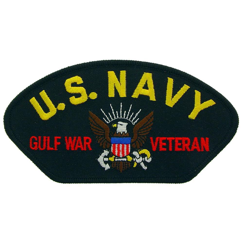 "Navy Gulf War Veteran Hat Patch 2 3//4/"" x 5 1//4/"" U.S"