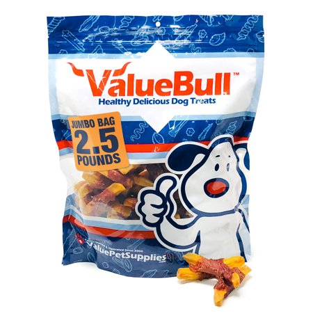 ValueBull Duck and Sweet Potato Wraps for Dogs, 2.5 Pound (Pound Dogs)