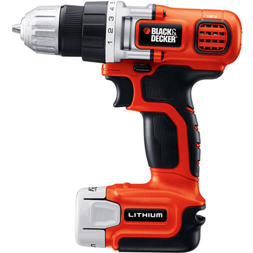 Black and Decker 12V MAX Lithium Ion Cordless Drill, LDX112C